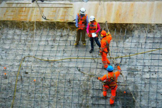 Trabajos en esclusa de Duke Energy