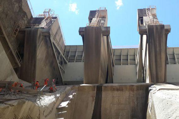 Vertedero de la presa Cirato