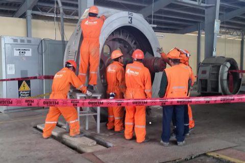 desmontaje de turbina