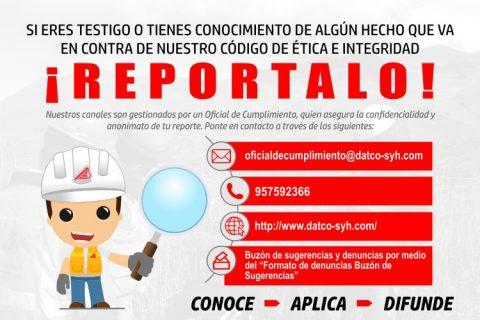 DATCO S&H IMPLEMENTA CANALES DE REPORTES Y DENUNCIAS